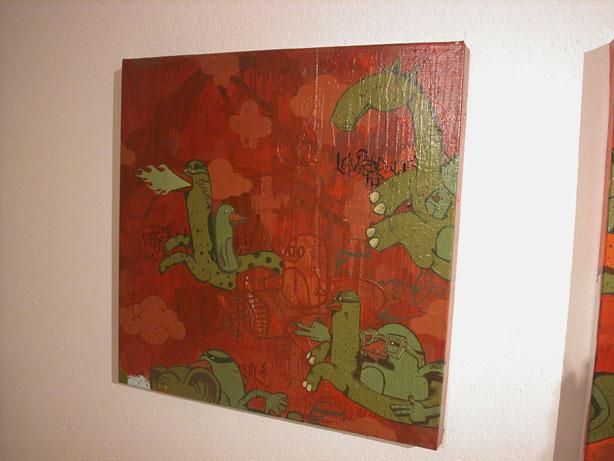 Cheval fond rouge (Alexone)